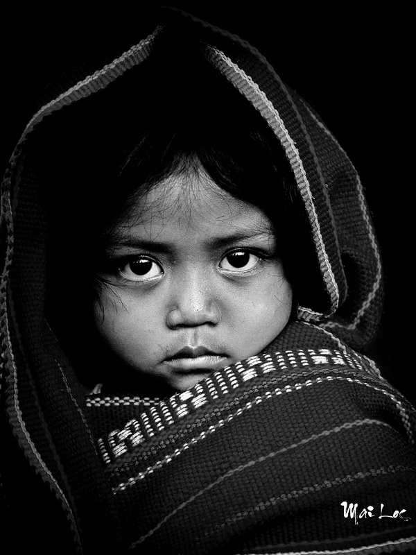 Black and white photos children mai locs
