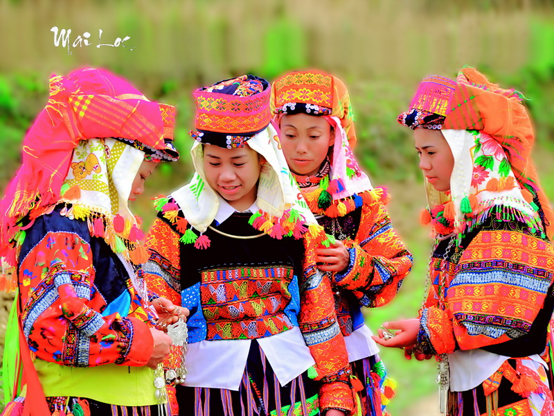 Black Lo Lo ladies in Lung Cu, Ha giang, Vietnam