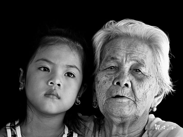 Grand Ma and grand daughter-Photo taken 17th-August-2014-By Mai Loc