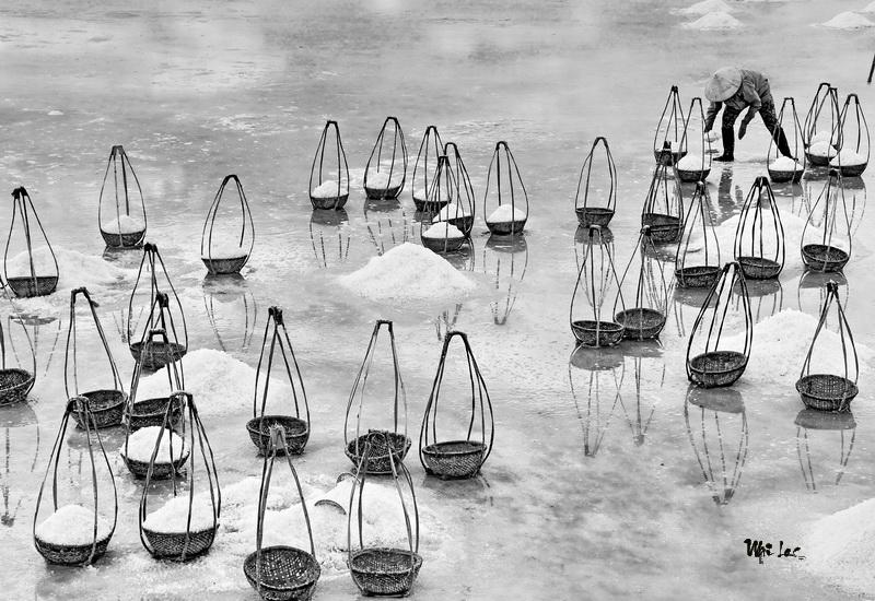 Salt harvest season-Photo taken 11th-July-2014 By Mai Loc